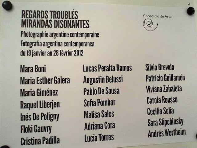 LUCIA TORRES en «MIRADAS DISONANTES» de «FOTOGRAFIA ARGENTINA CONTEMPORANEA» en Friburgo, Alemania; 2012