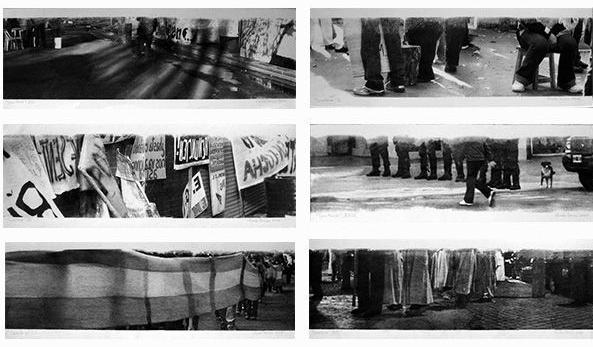 LUCIA TORRES «TERRITORIO» (políptico) Técnica mixta - 89,5x117cm – SEGUNDO PREMIO Grabado - XVI SALON MUNICIPAL DE ARTES VISUALES TRELEW 2009