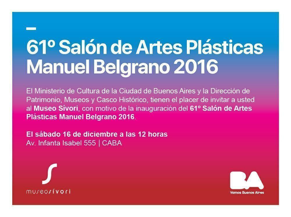 «61 Salón de Artes Plásticas Manuel Belgrano» en el Museo de Artes Plásticas Eduardo Sívori, 2016