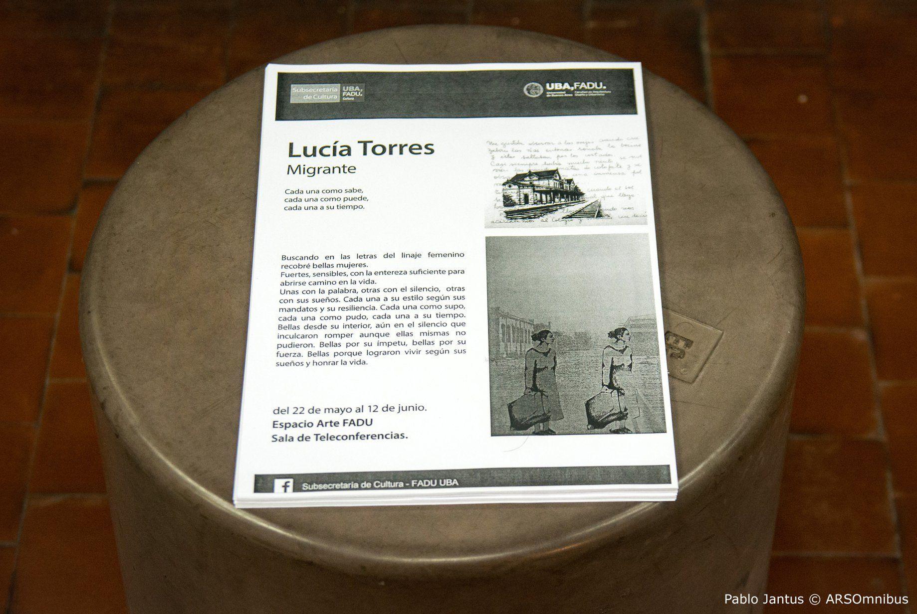 """Lucía Torres - Muestra individual """"Migrante"""" 2018"""