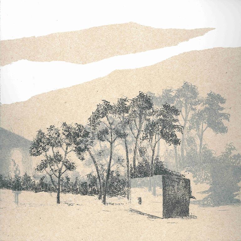 LUCIA TORRES - Serie «VIDA» 5 - Litografía 28x28cm - Año 2019