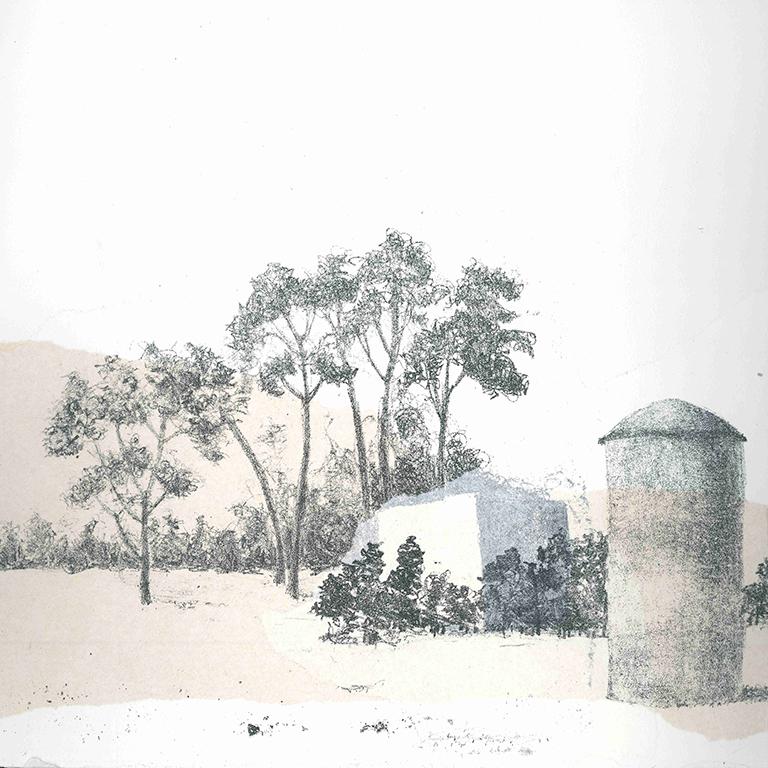 LUCIA TORRES - Serie «VIDA» 9 - Litografía 28x28cm - Año 2019