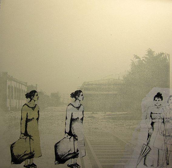 """Lucía Torres - Muestra individual """"Migrante"""" 29 Litografía en Polyester - 30x30cm - Año 2013"""