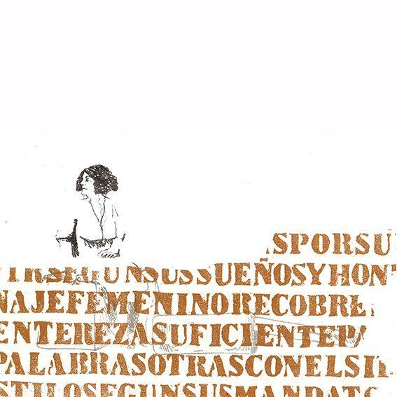 """Lucía Torres - Muestra individual """"Migrante"""" 88-1-3 Litografía Xilografía - 30x30cm - Año 2014"""
