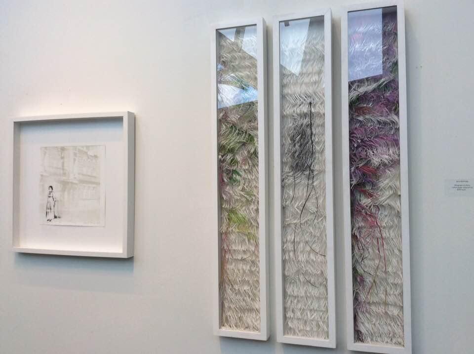 LUCIA TORRES «Migrante», en la presentación «Latinamerican women printing» en el Centro Cultural de Pompano Beach, 2017