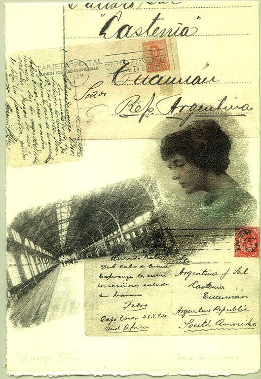 LUCIA TORRES «EL VIAJE» XLIII - Transfer s/Velin Arches creme 250grs 1/1 - 28x19cm en marco 40x30cm - Año 2007
