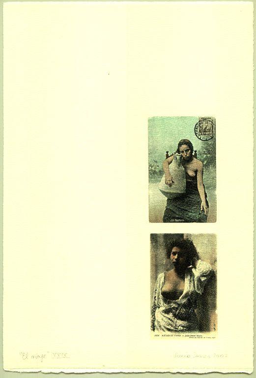 LUCIA TORRES «EL VIAJE» XXIX - Transfer s/Velin Arches creme 250grs 1/1 - 28x19cm en marco 40x30cm - Año 2007