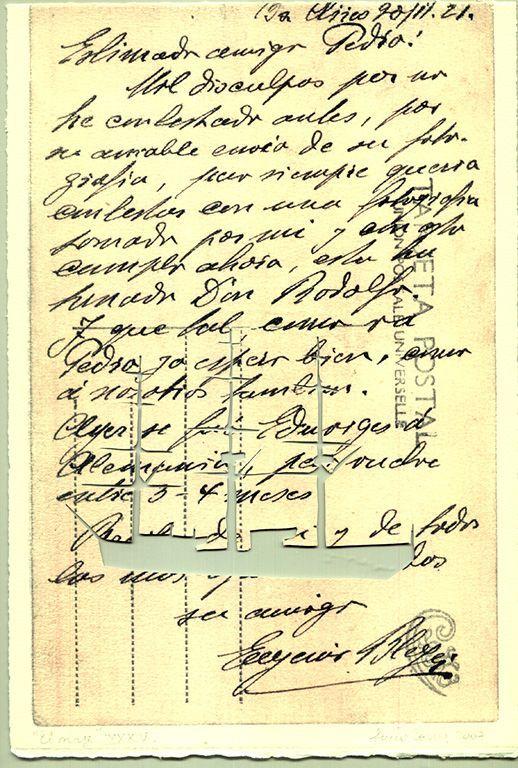LUCIA TORRES «EL VIAJE» XXXIV - Transfer s/Velin Arches creme 250grs 1/1 - 28x19cm en marco 40x30cm - Año 2007