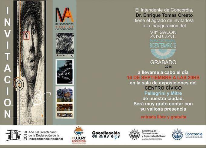 «VII Salón Anual Nacional del Bicentenerio» Mención en Grabado, Concordia