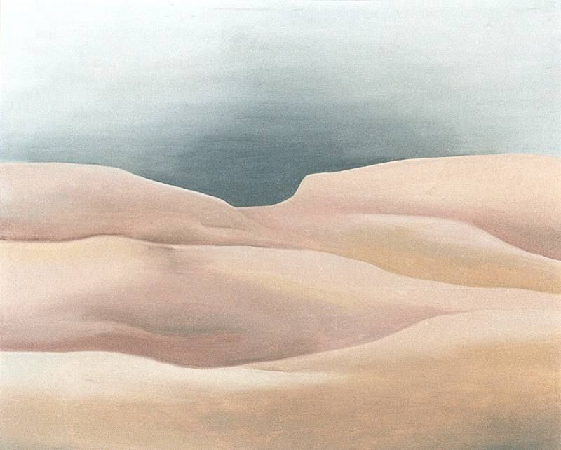 LUCIA TORRES «MESETA..., PATAGONIA..., ESA PIEL...» con «Interiores...» 9 - Óleo sobre tela 80x100cm - Año 2000