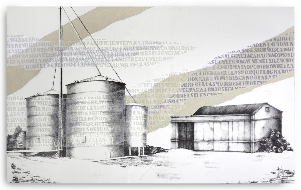 LUCÍA TORRES «MIGRANTE» Litografía, Xilografía 75x123cm - Año 2018 «TERCER PREMIO - 62 SALON DE ARTES PLÁSTICAS MANUEL BELGRANO»