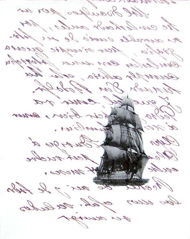 LUCIA TORRES «EL VIAJE» I - Transfer sobre canvas 100x80cm - Año 2007
