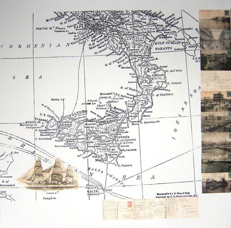 LUCIA TORRES «EL VIAJE» III - Transfer sobre canvas 100x100cm - Año 2007