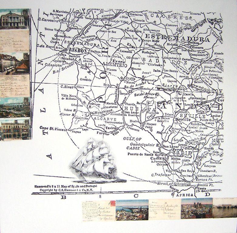 LUCIA TORRES «EL VIAJE» IV - Transfer sobre canvas 100x100cm - Año 2007