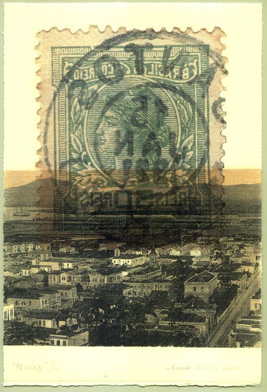 LUCIA TORRES «EL VIAJE» L - Transfer s/Velin Arches creme 250grs 1/1 - 28x19cm en marco 40x30cm - Año 2007