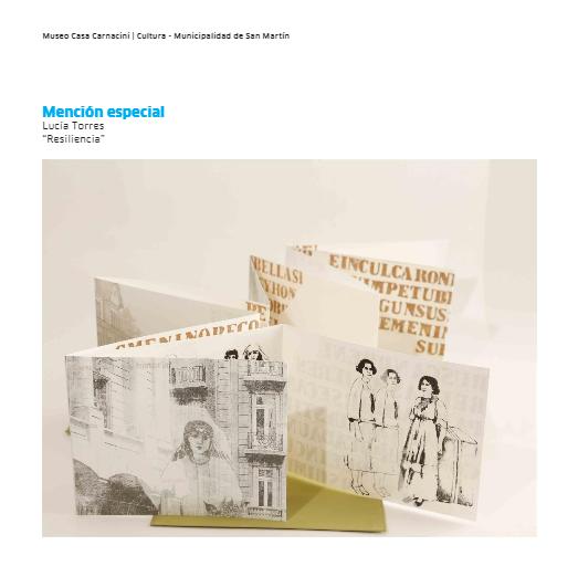 III Bienal Libro de Artista / Museo Casa Carnacini - MENCIÓN ESPECIAL - LUCIA TORRES «Resiliencia»