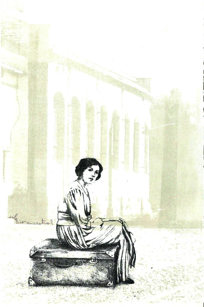 LUCIA TORRES «Migrante» 4 - Litografía en Poliester 29x19cm - Año 2013