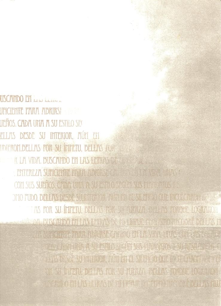 LUCIA TORRES «Migrante» 5 - Litografía en Poliester 30x19cm - Año 2013