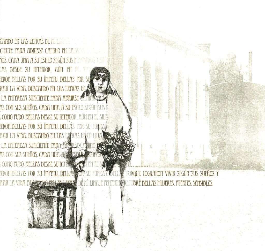 LUCIA TORRES «Migrante» 7 - Litografía en Poliester print 30x30cm - Año 2013