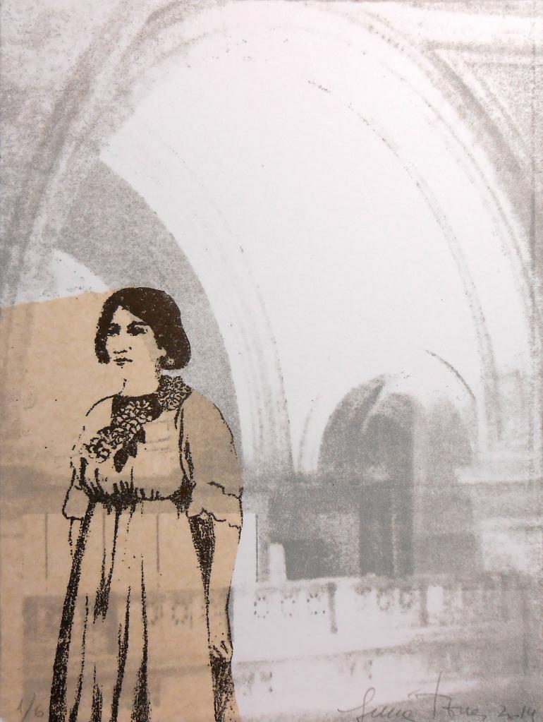 LUCIA TORRES «MIGRANTE» 100 - Litografía en Poliester 20x15cm - Año 2014