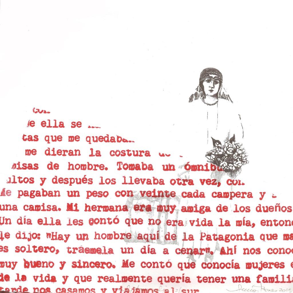 LUCIA TORRES «MIGRANTE» 117 - Litografía 30x30cm - Año 2015