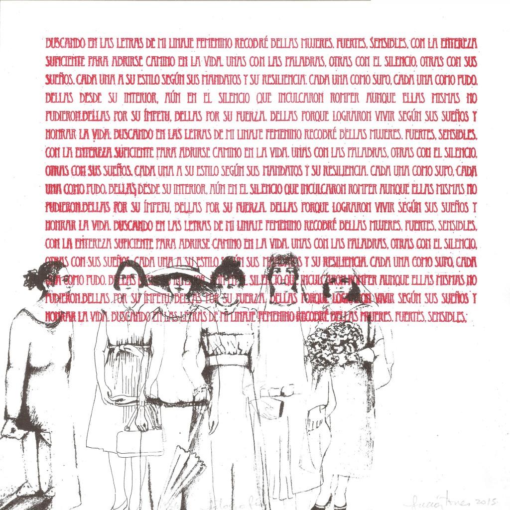 LUCIA TORRES «MIGRANTE» 123 - Litografía en Poliester 30x30cm - Año 2015