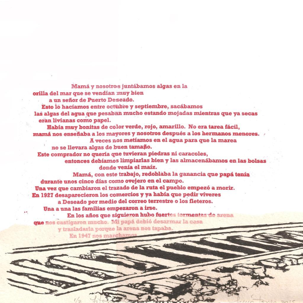 LUCIA TORRES «MIGRANTE» 125 - Litografía 30x30cm - Año 2015