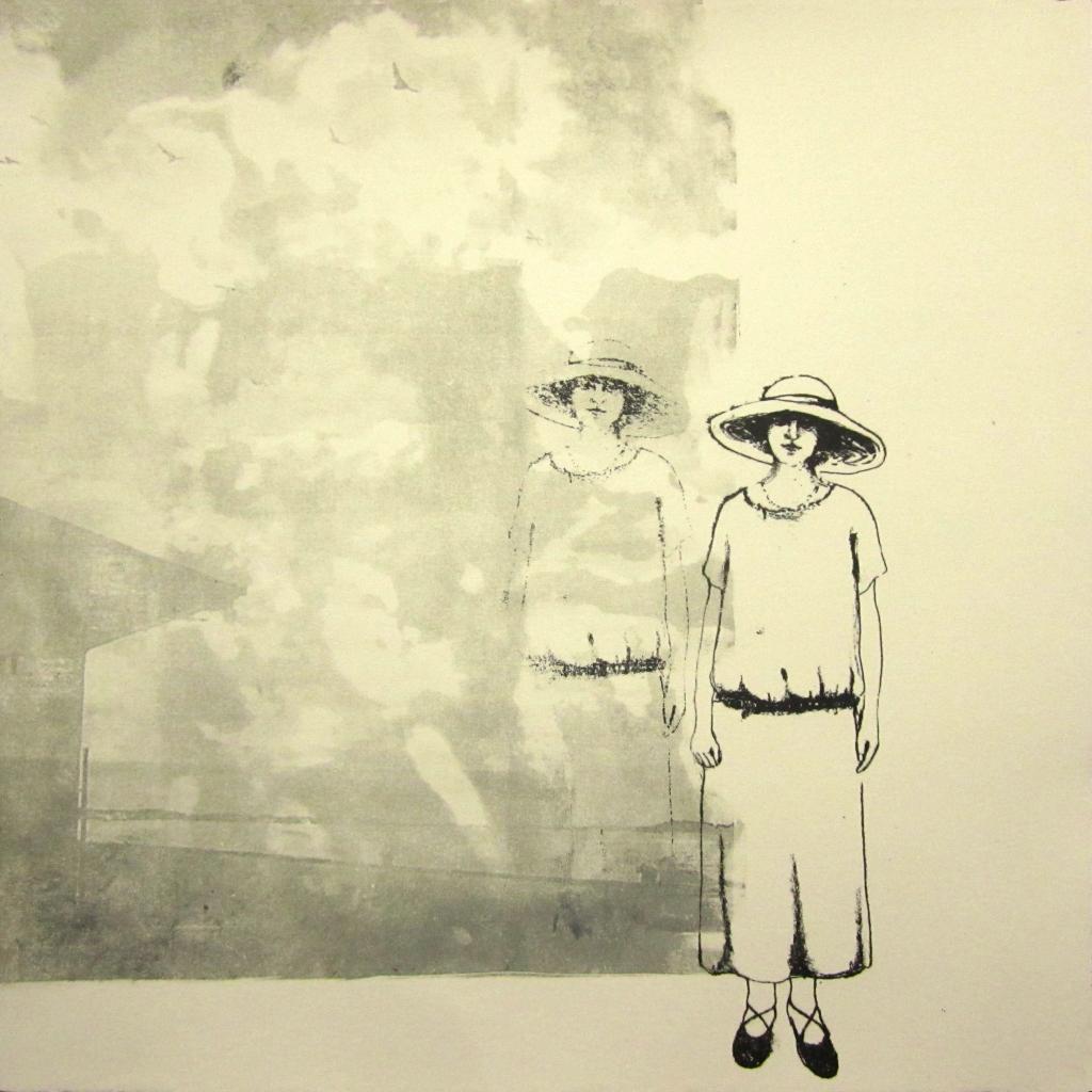 LUCIA TORRES «Migrante» 13-3 - Litografía en Poliester 30x30cm - Año 2013