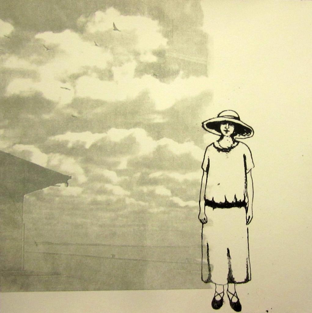 LUCIA TORRES «Migrante» 13 - Litografía en Poliester 30x30cm - Año 2013
