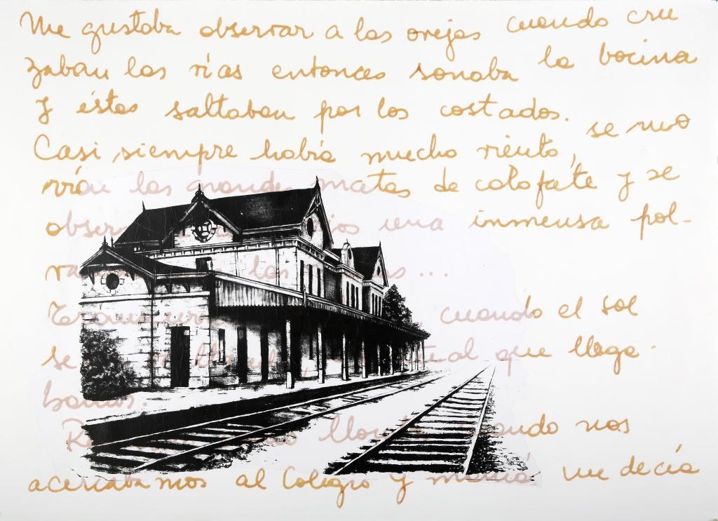 LUCIA TORRES «MIGRANTE» 140 - Litografía, Tranfer 76x106cm - Año 2015