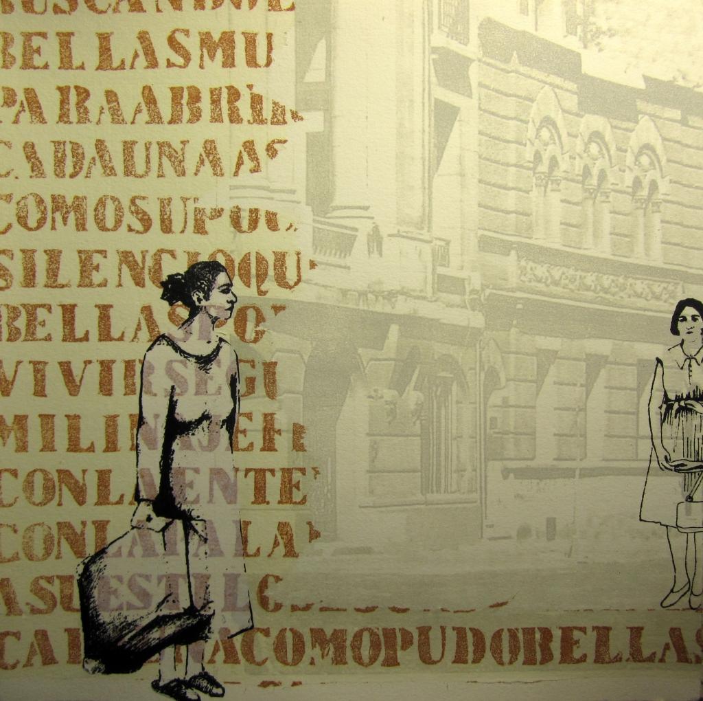 LUCIA TORRES «Migrante» 20 - Litografía en Poliester print 30x30cm - Año 2013