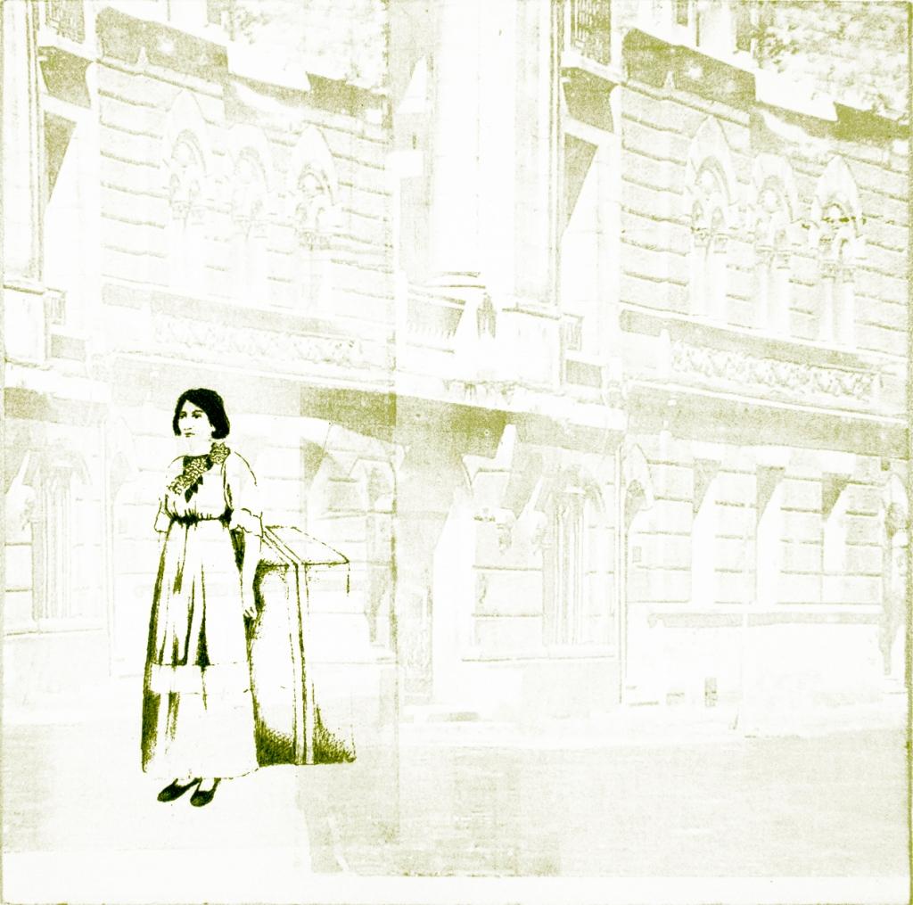 LUCIA TORRES «Migrante» 34 - Litografía en Poliester 30x30cm - Año 2013