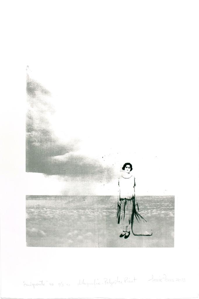 LUCIA TORRES «Migrante» 40 - Litografía, Poliester print, Xilografía 56x37,5cm - Año 2013