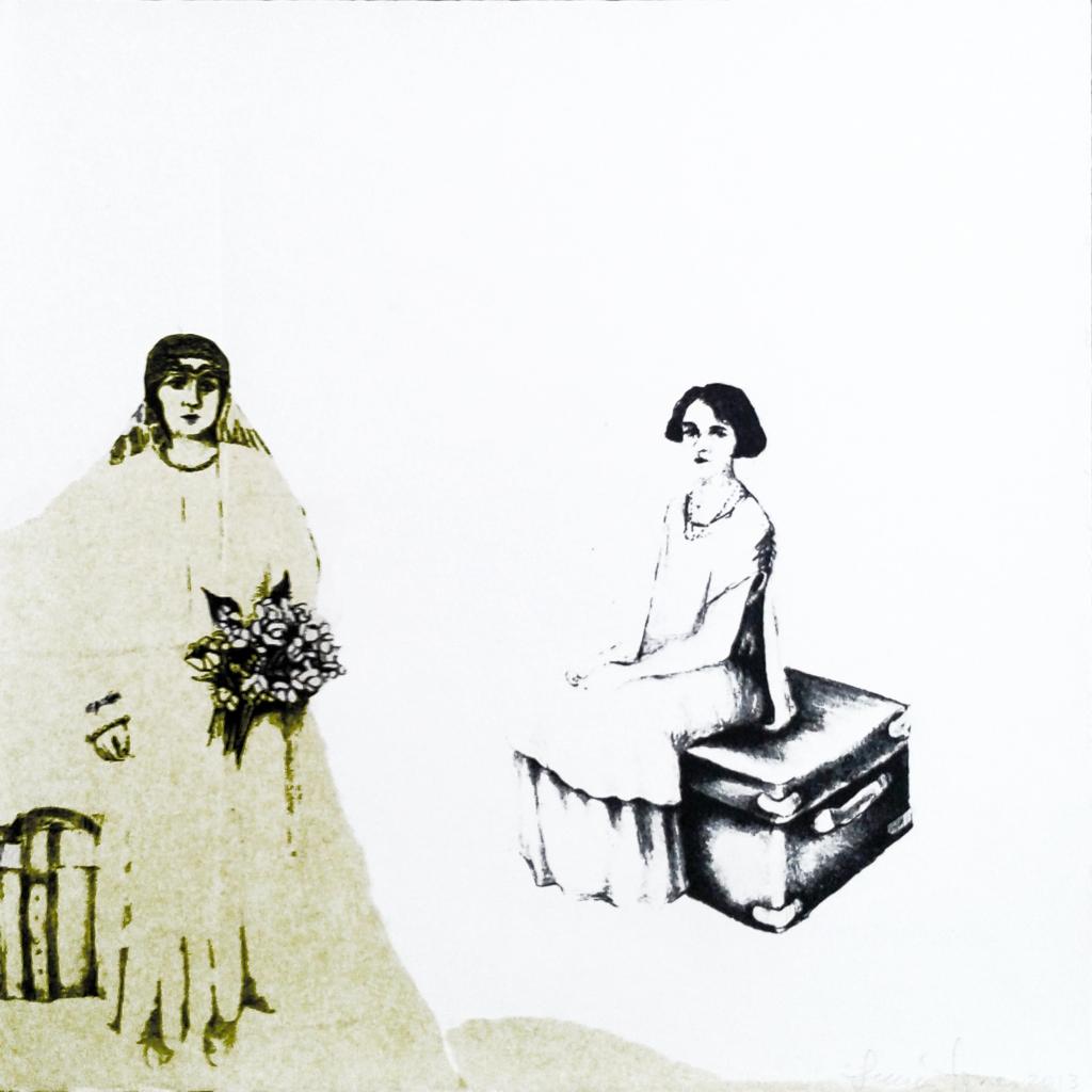 LUCIA TORRES «Migrante» 65-1 - Litografía 30x30cm - Año 2013