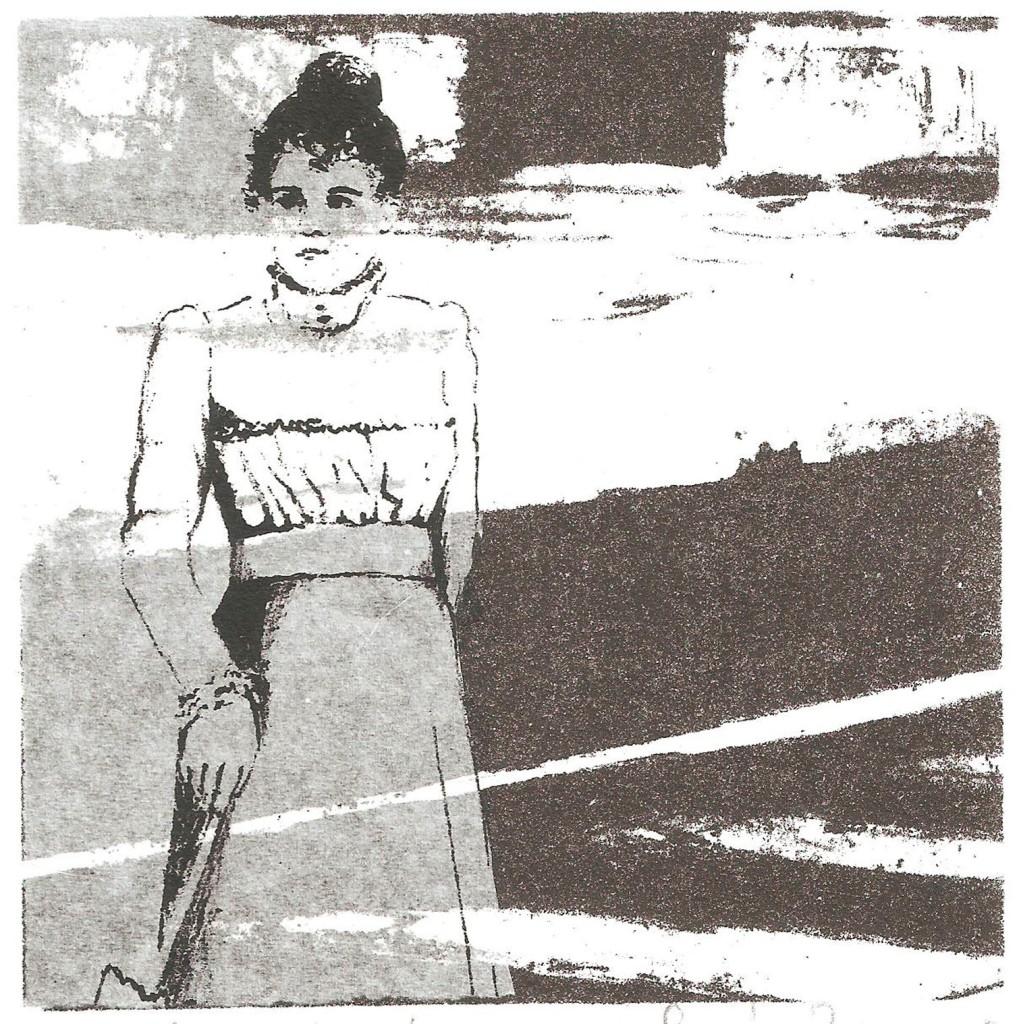 LUCIA TORRES «MIGRANTE» 70 - Litografía, Xilografía 10x10cm - Año 2014