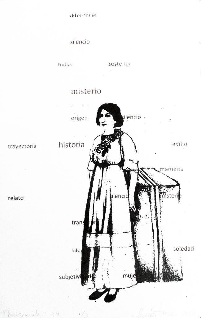 LUCIA TORRES «MIGRANTE» 74-1 - Litografía 30x19cm - Año 2014