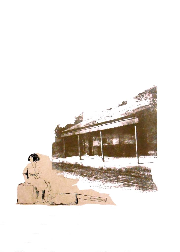 LUCIA TORRES «MIGRANTE» 82-2 - Litografía 70x50cm - Año 2014