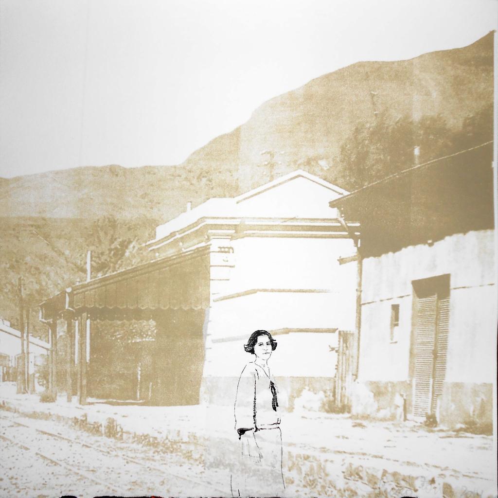 LUCIA TORRES «MIGRANTE» 86 - Litografía en Poliester 30x30cm - Año 2014