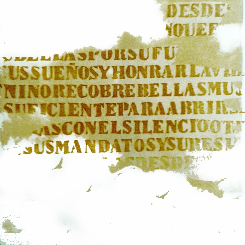 LUCIA TORRES «MIGRANTE» 87-1 - Litografía, Xilografía 30x30cm - Año 2014
