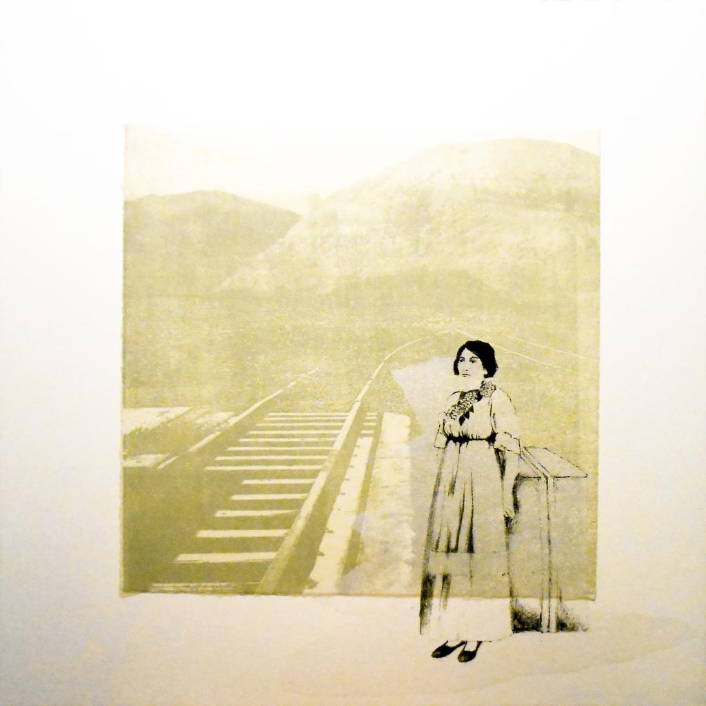 LUCIA TORRES «MIGRANTE» 96 - Litografía en Poliester 18,5x18,5cm - Año 2014