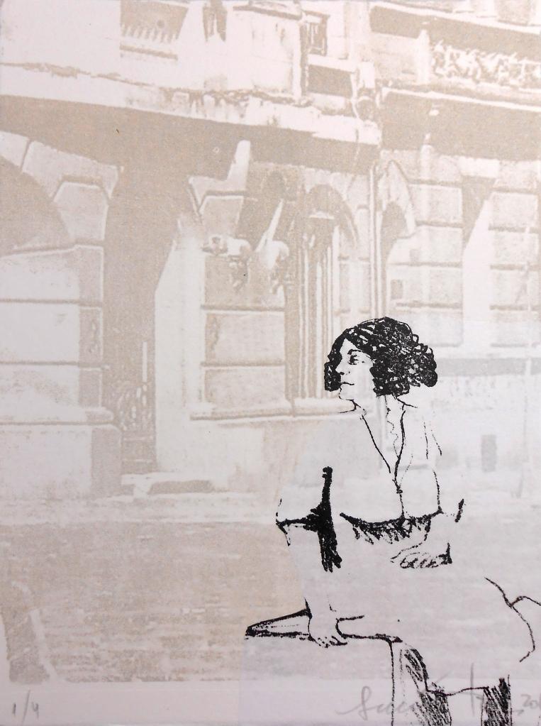 LUCIA TORRES «MIGRANTE» 99 - Litografía en Poliester 20x15cm - Año 2014