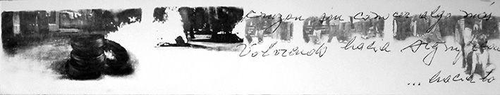 LUCIA TORRES «TERRITORIO» XLIII - Litografía Transfer 19x100cm - Año 2011