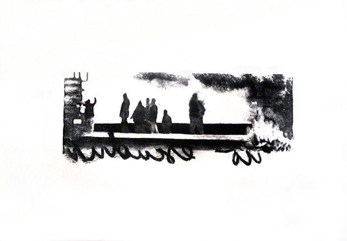LUCIA TORRES «TERRITORIO» XXVII - Litografía 35x50cm - Año 2011