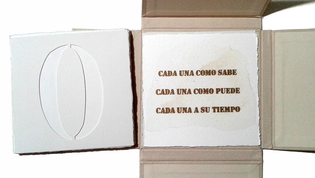 LUCIA TORRES «VIDAS» Libro de Artista - Edición Única - Litografía, Troquelado - Papel Archés y Papel de Seda - Año 2015