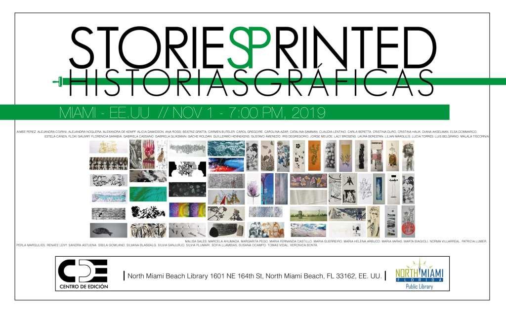 «STORIES PRINTED / HISTORIAS GRÁFICAS» Centro de Edición, North Miami Public Library