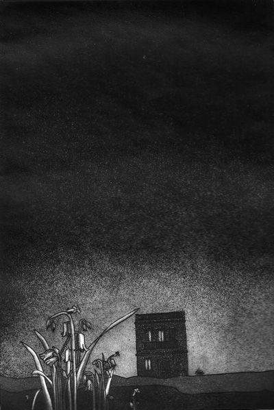 LUCIA TORRES «AQUELLA CASA» Aguafuerte, Aguatinta 34X29,5cm - Año 1982 «PRIMER PREMIO Salón Juvenil de Córdoba, Grabado. Museo ´Genaro Pérez´»