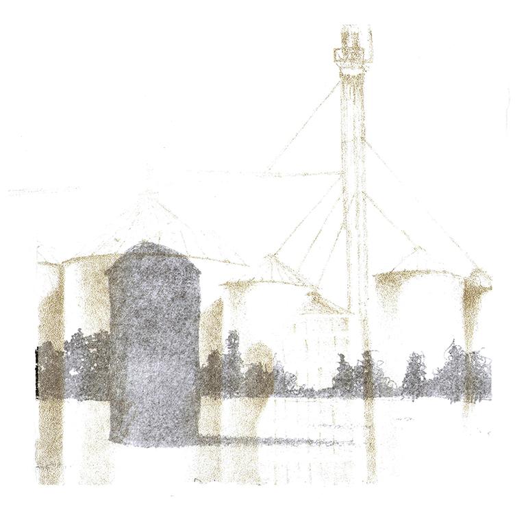 LUCIA TORRES con «Serie Vida 17» Litografía - 30x30cm - Año 2019 «FIG BILBAO 2020» Festival Internacional de Grabado y Arte sobre Papel, GalleryLabs, Bilbao - España