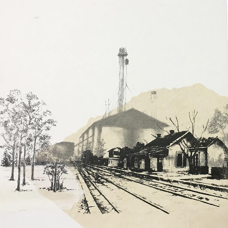 LUCIA TORRES con «Serie Vida 4» Litografía - 28x28cm - Año 2019 «FIG BILBAO 2020» Festival Internacional de Grabado y Arte sobre Papel, GalleryLabs, Bilbao - España