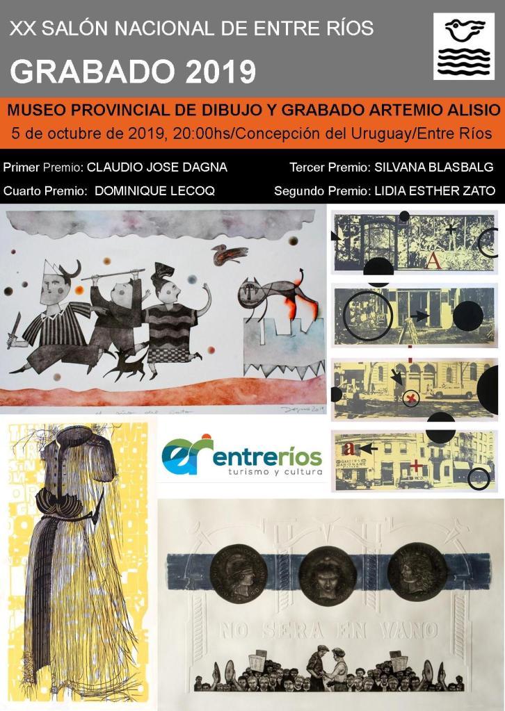 «XX Salón Nacional de Entre Ríos GRABADO 2019», Museo Provincial de Dibujo y Grabado Artemio Alisio, Entre Ríos