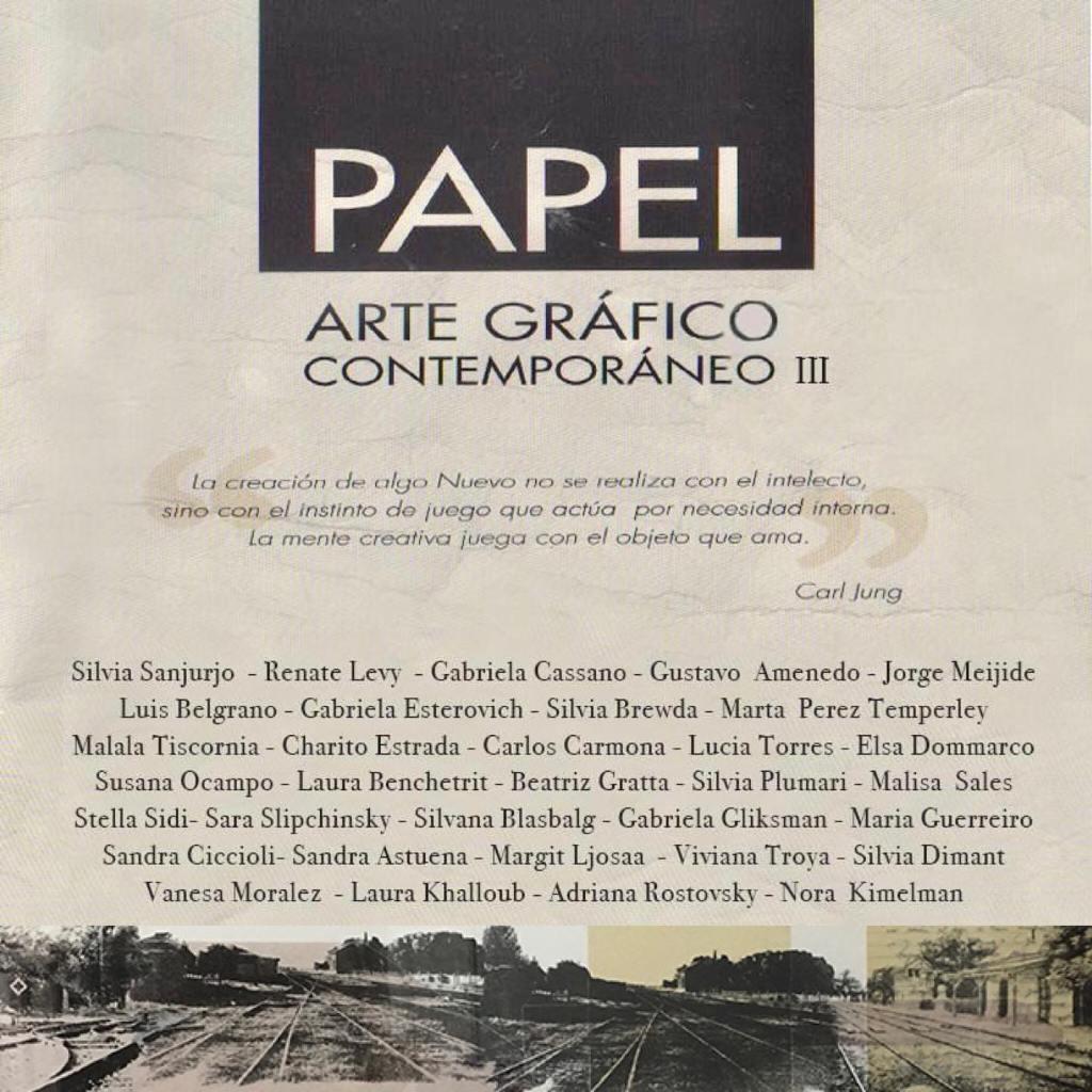 «PAPEL Arte Gráfico Contemporáneo III», Museo Rómulo Raggio. Vicente López, Buenos Aires